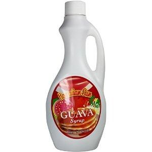 Product Details Guava syrup that may be used for more than just pancakes and waffles. Give it a try in drinks and as a dessert topping. - Guava syrup - Made in Hawaii - 15.75 oz