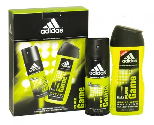 Adidas 2 piece deodorant & shower gel gift set pure game