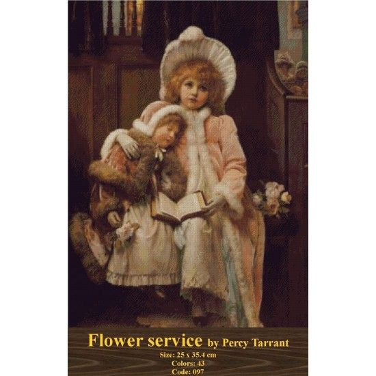 CrossSttich Kit Flower Service by Percy Tarrant http://gobelins-tapestry.com/portraits/944-flower-service-by-percy-tarrant.html