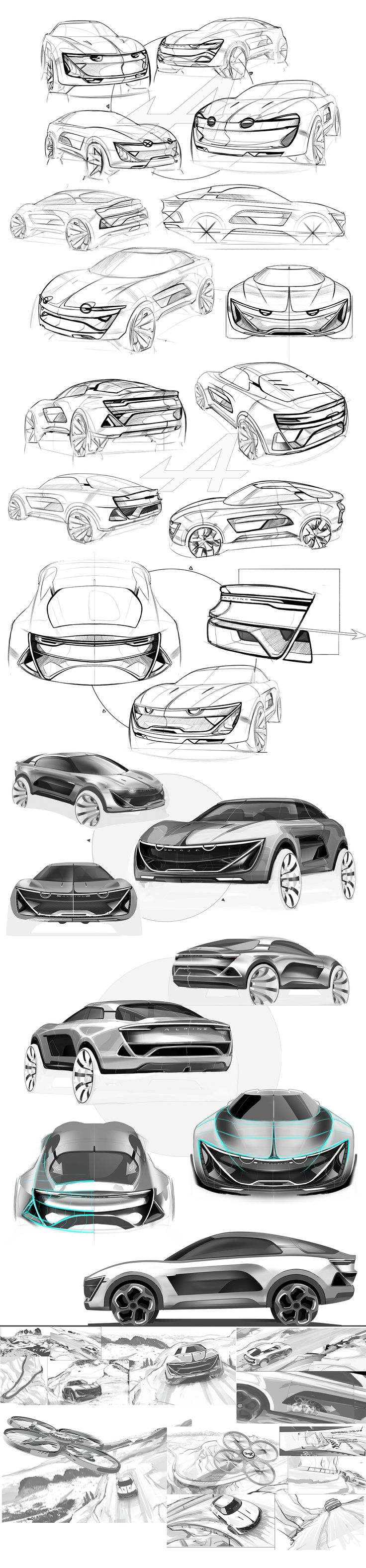 Alpine SUV 2025 on Behance
