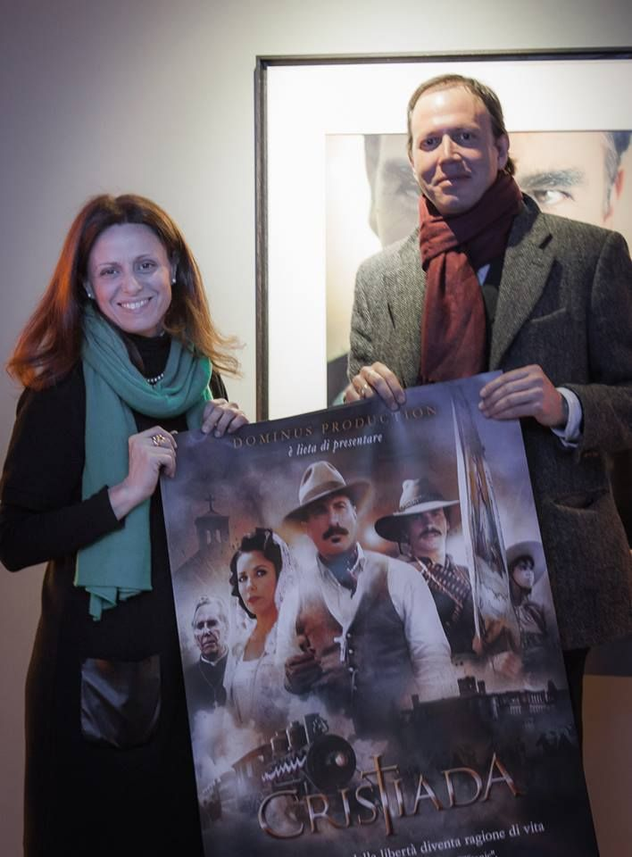 Federica Picchi (Dominus Production) and Manuel de Teffé before the first screening in  Roma