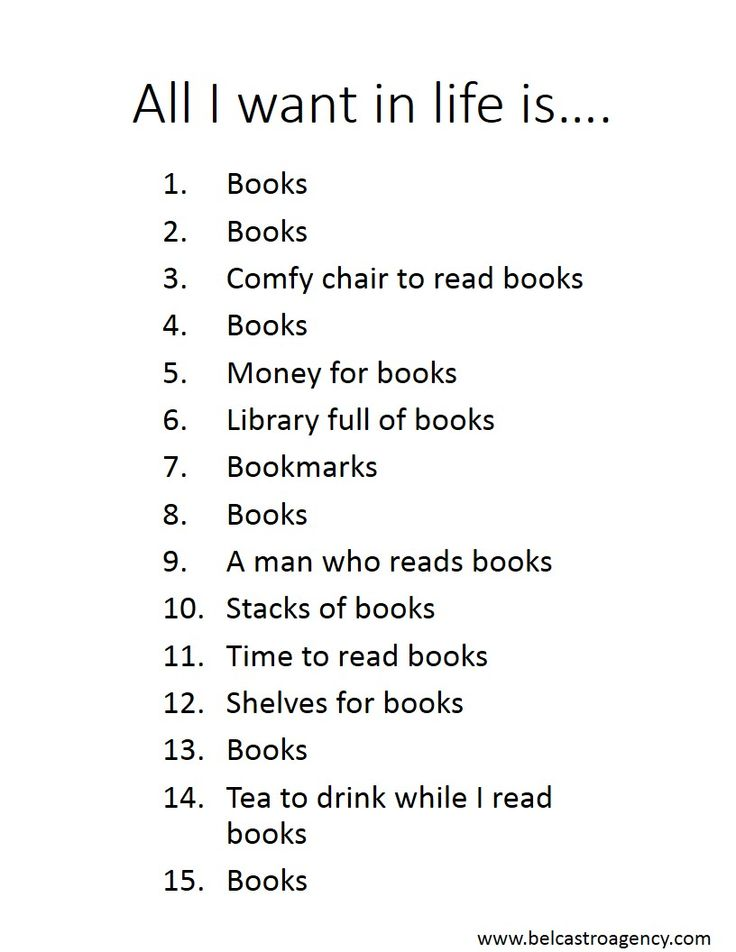 My Christmas list :)