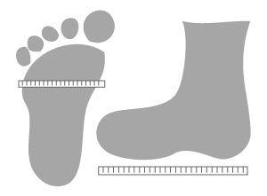 Child and Adult sock knitting sizing charts