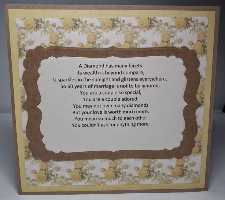 Parents 60th Wedding Anniversary Poems: 21 Best Images About Anniversary On Pinterest