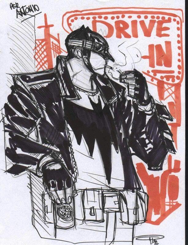 GREASER BATMAN BY DENIS MEDRI