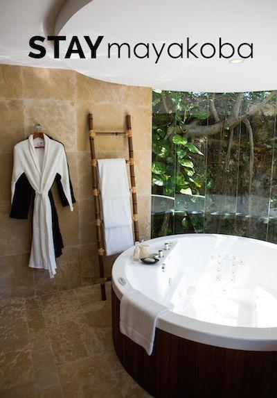 Consentirte a ti mismo con un baño tranquilo… #QUEDATEmayakoba #lujo #baño #suite #diseñodeinteriores #playadelcarmen