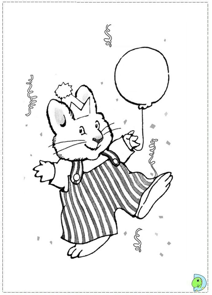 Max And Ruby Coloring Page Kids Printable Max And Ruby Cartoon