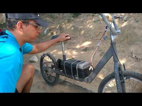 Bike Eletrica Com Motor De Esteira - YouTube