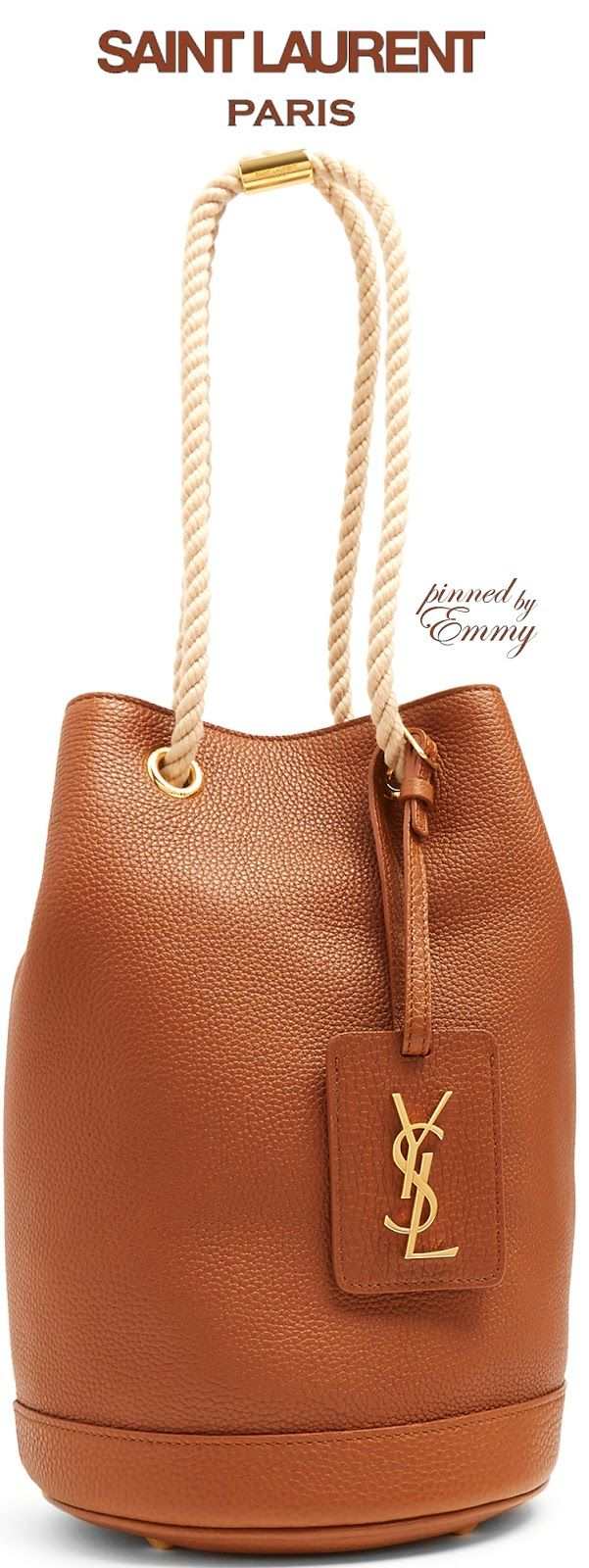 Brilliant Luxury by Emmy DE ♦Saint Laurent Seau grained-leather bucket bag