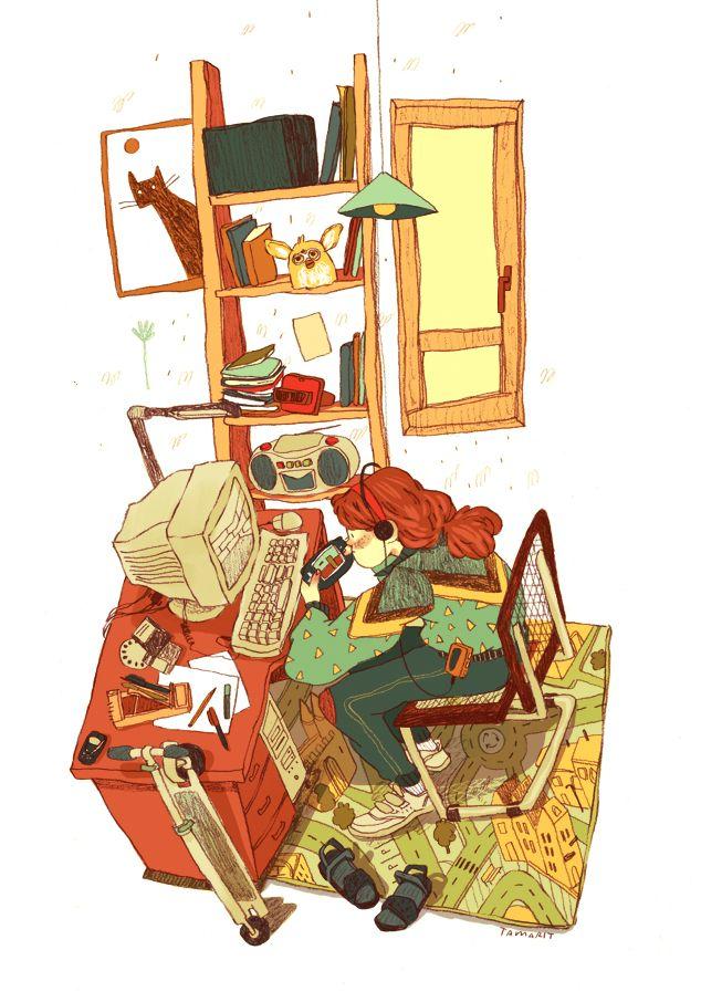 90′s - illustration by Núria Tamarit