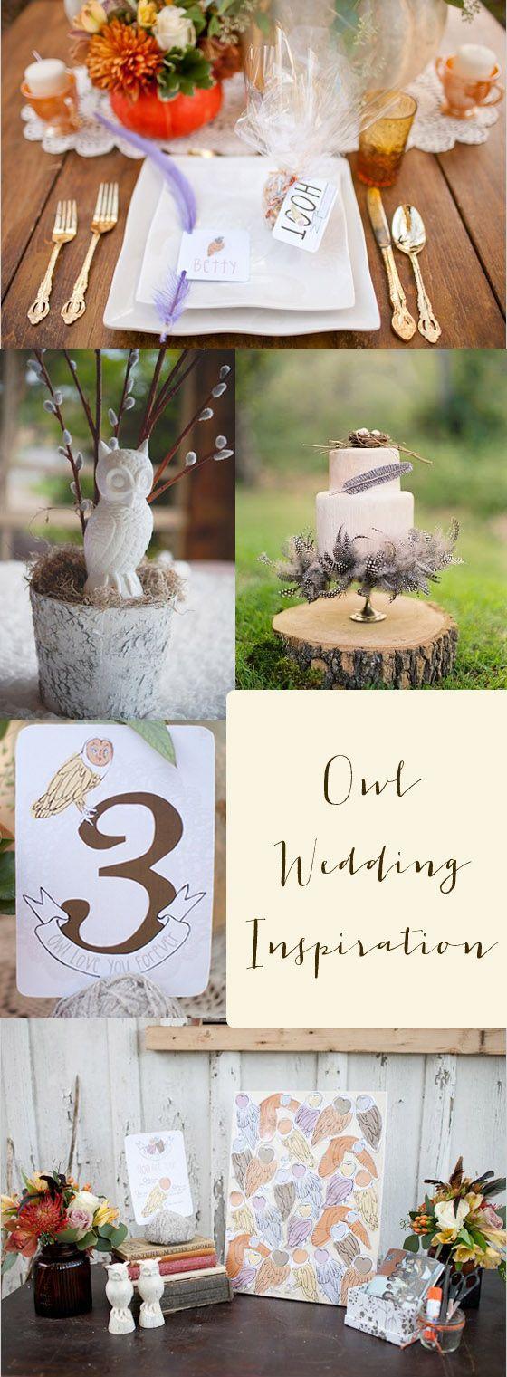owl wedding inspiration  coolest cake I've ever seen!