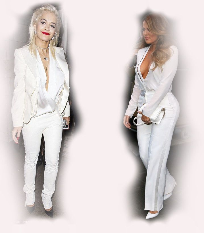 white suit, Rita Ora VS Khloe Kardashian Odom fashion diva who-wore-it-better celeb celebrity