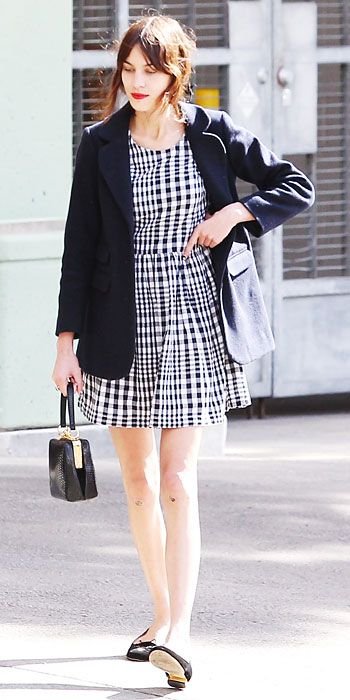 See Alexa Chung's Chic Street Style Looks - February 4, 2014 from #InStyle