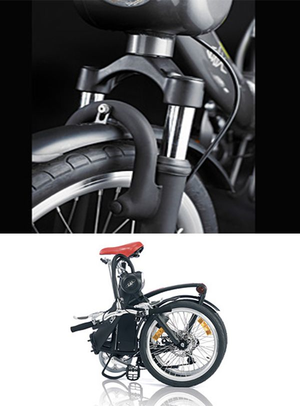 famous Solex electric folding bike. Two colors - antique white and black - it supersedes competition at this level.
