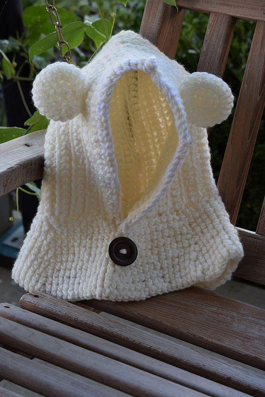 Crochet Teddy Bear Cowl Free Pattern