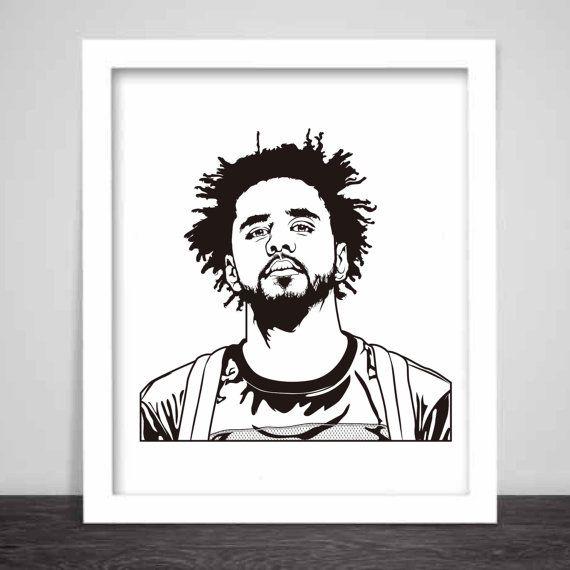 J. Cole Art Poster 3 sizes // Jcole dreamville by BabesnGents