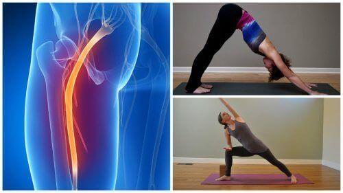 Ischias komt veel voor en kan er pijnlijk en vervelend zijn. Er zijn een paar yoga-oefeningen die je kunt proberen om de pijn te verlichten.
