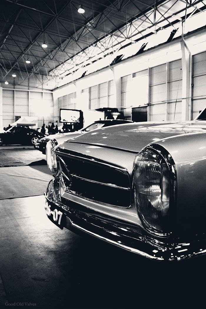 """goodoldvalves:    Mercedes-Benz 230SL W113 (1964)  Shown at the """"Salão de Clássicos"""" at Aveiro, the previous weekend."""