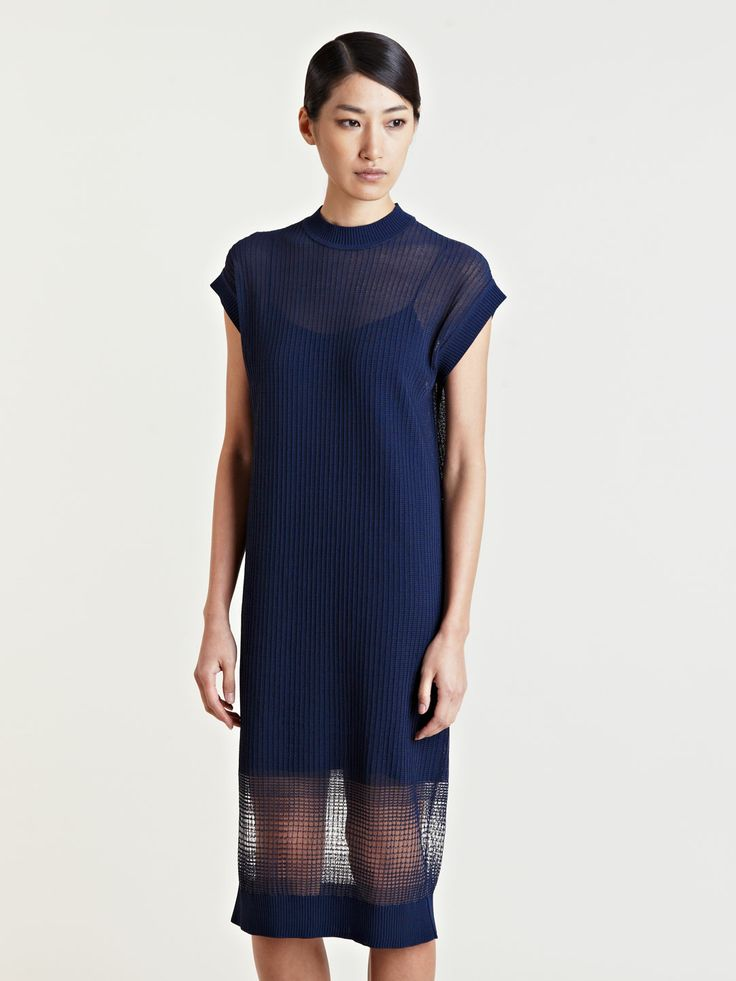 Lucas Nascimento Women's Sheer Degrade Dress SS13