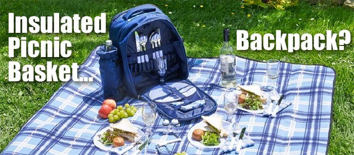 How Does an Insulated Picnic Backpack Compare to the Traditional Picnic Basket, What are the Advantages and What Comes in the Package?