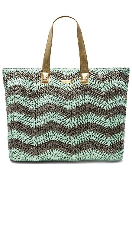 OndadeMar Tote Bag in Mint & Grey | REVOLVE