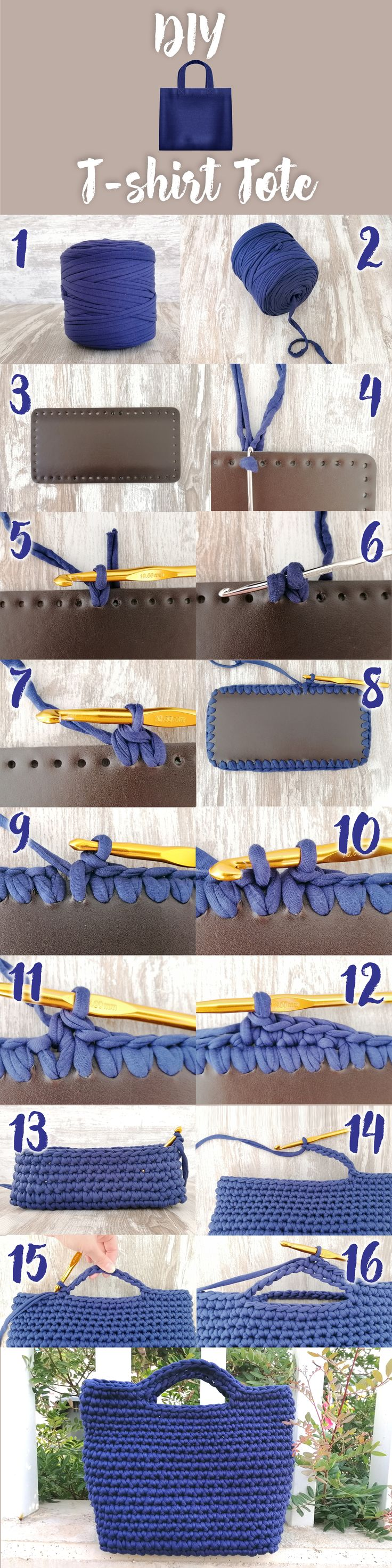How To Crochet A Bag Step By Step Using T-shirt Yarn