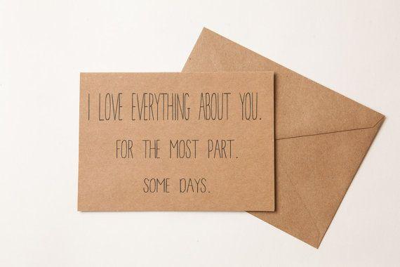 AMORE divertente carta fidanzata fidanzato di TheFarmhouseCharm