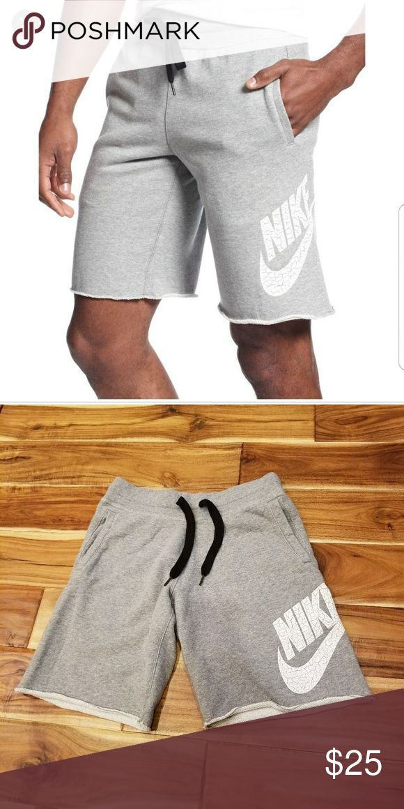 Nike Cotton Alumni Logo Shorts These Nike logo cotton shorts are great for any athletic activity or if you decide to lounge around the house. They have an unfinished hem for a lived-in look. Enjoy! Nike Shorts Athletic