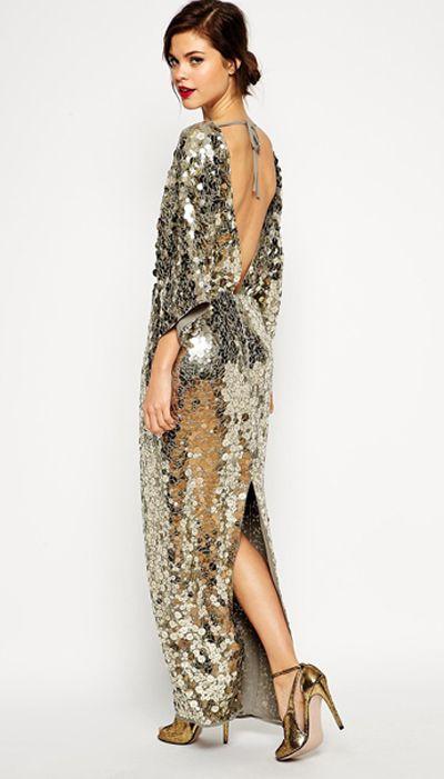 ASOS Red Carpet Premium All Over Sequin Kimono Maxi Dress, $284.25
