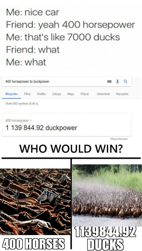 1139844.92 ducks? There would be .92 PERCENT OF A DUCK?!?!?!?!!!??