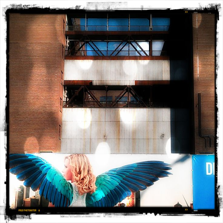 The Angel | Point-Saint-Charles (le Sud-Ouest), Montreal | 2013 | John Naccarato |   Billboard for condo developers Elad Canada for its new condo development Le Nordelec at The Northern Electric Company | #thespacesweAR
