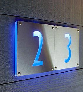 LED illuminated address numbers : from m-i-n-t