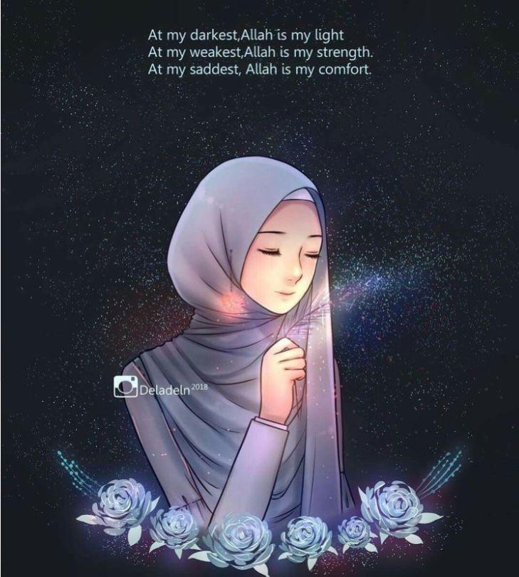 Pin Oleh Ummati Di Islamic Reminders Knowledge Inspiration Kartun Kartun Hijab Seni Islamis Cool veiled woman wallpaper
