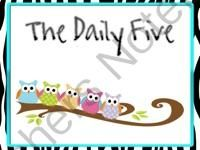 Daily Five Posters- OWL THEME from Leading and Reading on TeachersNotebook.com (7 pages)