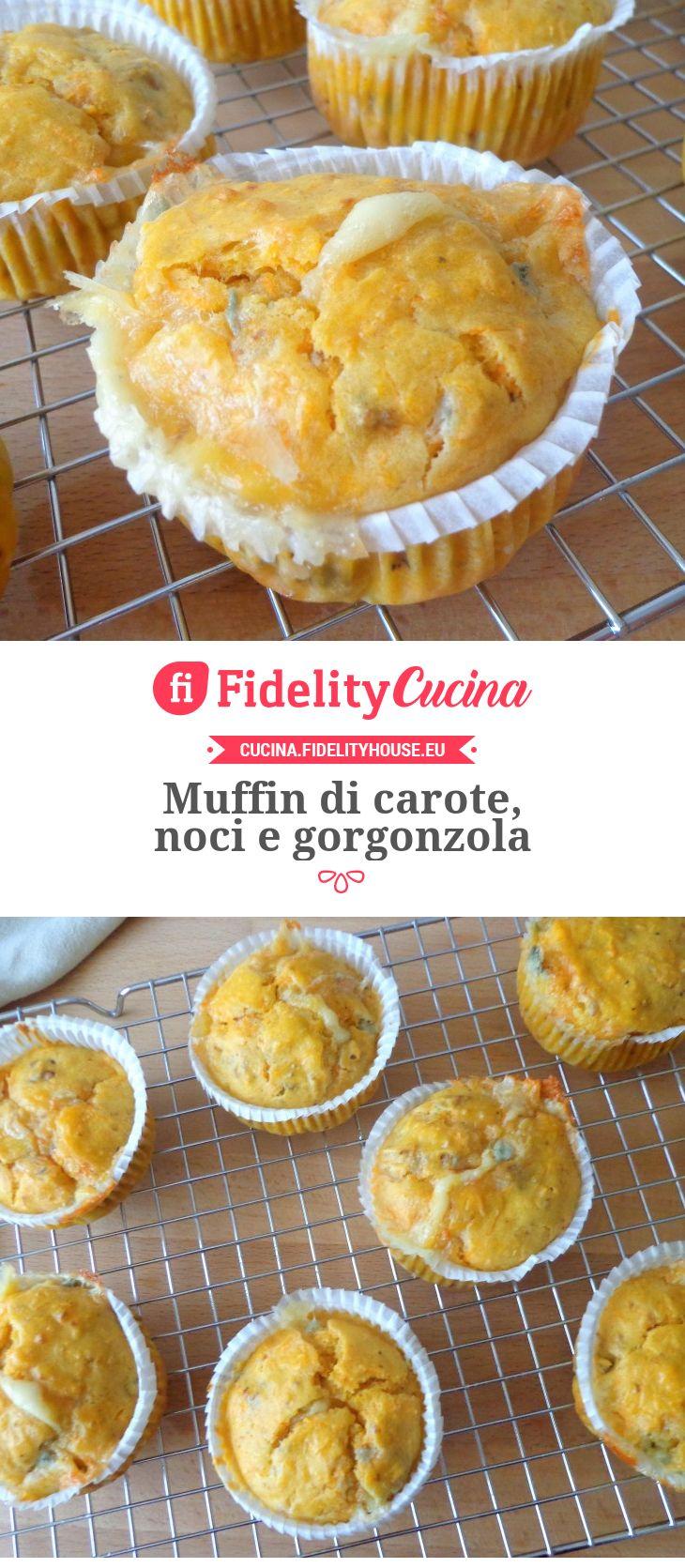 Muffin di carote, noci e gorgonzola