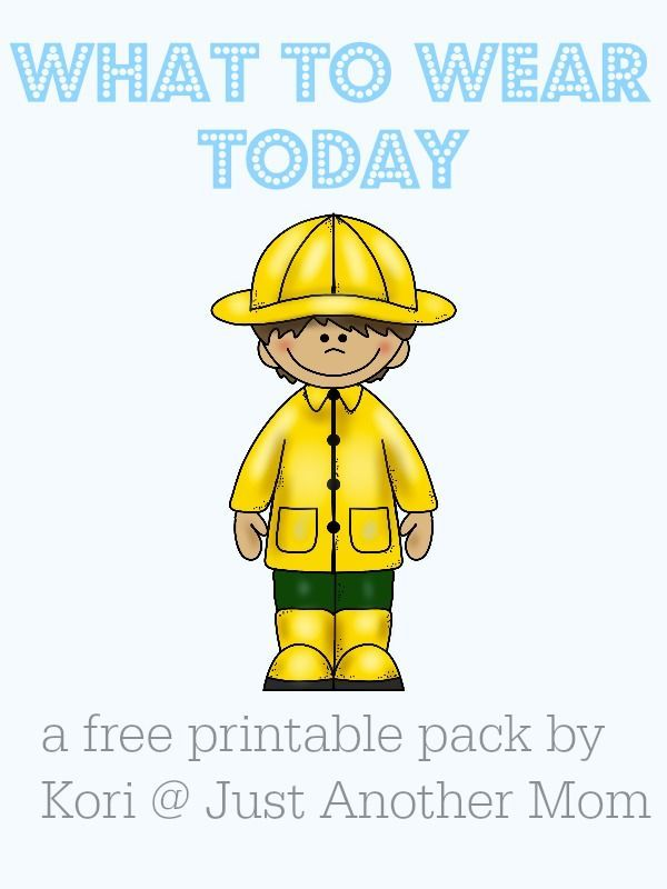 Welcome back to another Freebie Friday here at Just Another Mom! In keeping with my theme of autism related printable packs, this week's pack focuses on making appropriate clothing choices. This pack can be used for any individual (non-verbal, pre-reader,
