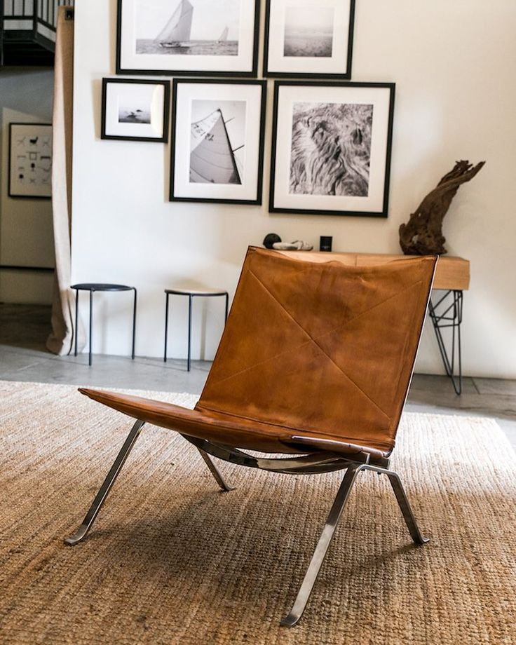 One of my favorite gifts from @beksopperman this year was a pair of these aged leather PK22 chairs. The simplicity of Poul Kjaerholm will forever be inspiring to me. Thanks @jacelumley for the photo. Up now on GQ.com #poulkjaerholm #pk22 #gq by stephenkenn