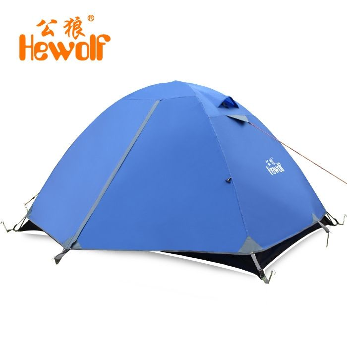 82.10$  Watch here - http://alie1l.shopchina.info/1/go.php?t=32817197026 - Hewolf Double layer 2person 190*150*110cm Four season tent Waterproof Windproof Outdoor Tent For Hiking Hunting Beach  Picnic 82.10$ #SHOPPING