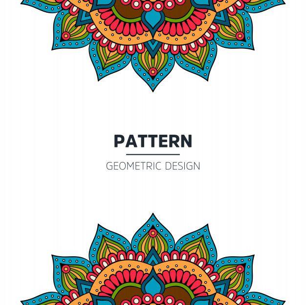 Descarga Gratis Vectores De Diseno De Fondo De Mandala Mandala Background Background Design Background Design Vector
