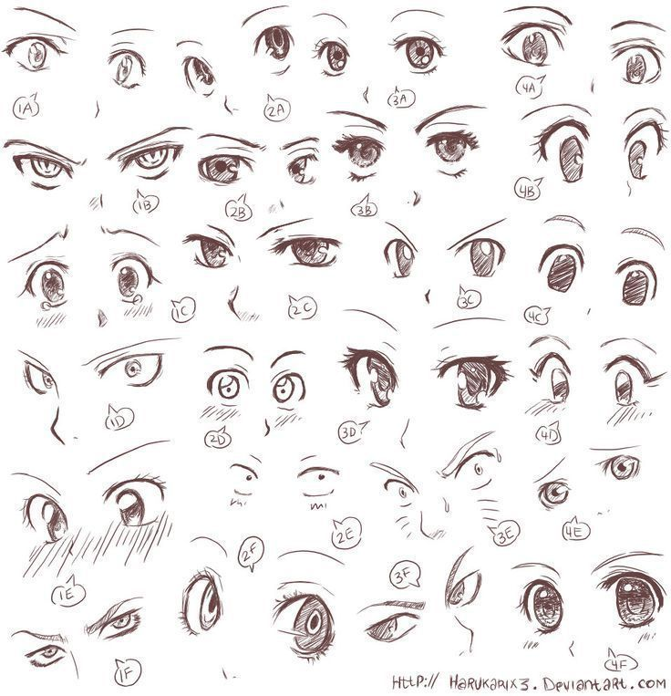 Wie zeichne Anime – Eyes – ad.rienne.hd – #adrien…
