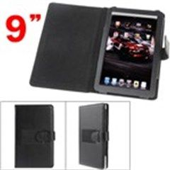 Stylish Protective PU Leather Carrying Case Cover with Stand for 9 inch Tablet PC Computer - Black