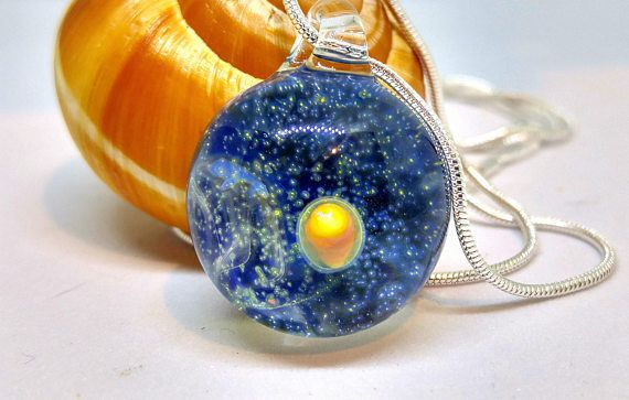 Planetary Glass Necklace Heady Boro Pendant Space Glass