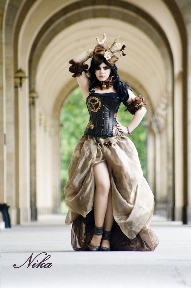 Wow - very cool steampunk here - could almost be a wedding dress.