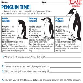 penguin free printable kindergarten worksheets penguin best free printable worksheets. Black Bedroom Furniture Sets. Home Design Ideas
