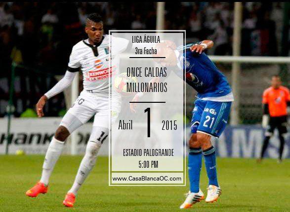 Once Caldas vs Millonarios: Debut de Tito