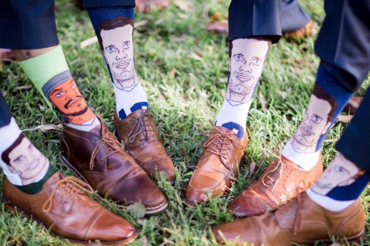sports star groomsmen socks