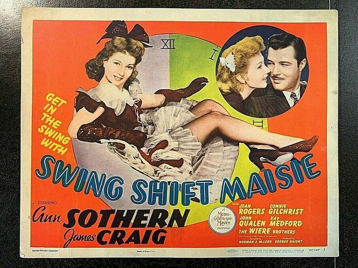 SWING SHIFT MAISIE 1943 ORIGINAL TITLE LOBBY CARD, ANN