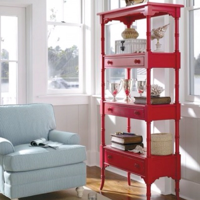 Repurposed table shelving.   http://www.apartmenttherapy.com/tables-made-into-shelves-167650?image_id=3299144