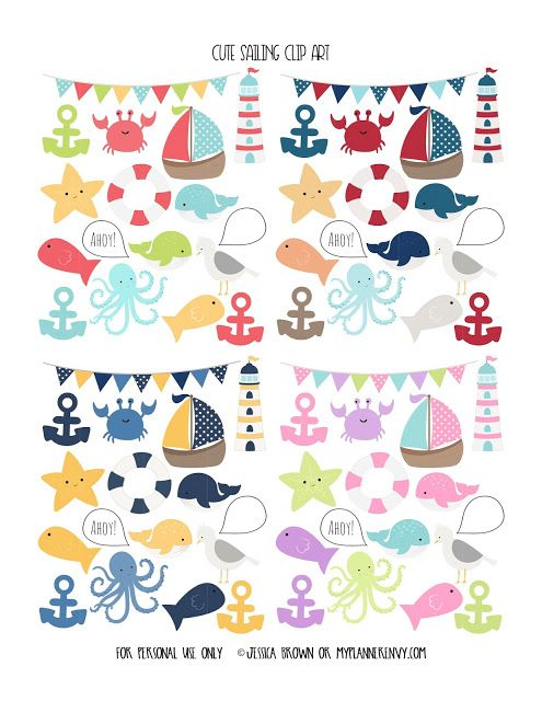 Cute Sailing Clip Art from myplannerenvy.com