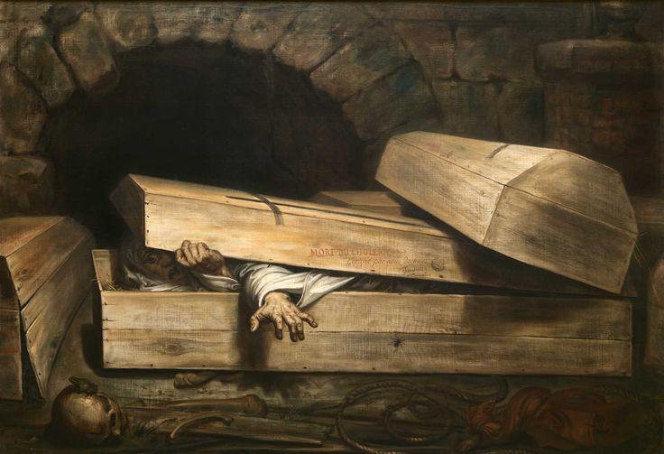"""Antoine Wiertz : """"De overhaaste begrafenis"""", 1854. Brussel, Koninklijke Musea voor Schone Kunsten"""